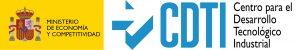 Logos Ministerio de Economía y Competividad y del Centro para el Desarrollo Tecnológico Industrial